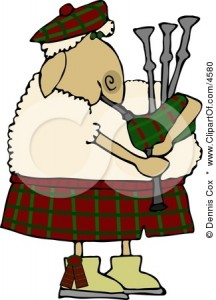 4580-Scottish-Anthropomorphic-Sheep-Playing-A-Bagpipe-Clipart
